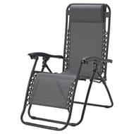 Argos Home Metal Set of 2 Sun Lounger Chairs - Grey