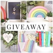 Win a Children's Home Ware/ Decor Selection including a Rainbow Wall Hanging!