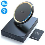 DesertWest Wireless Fast Charger, 15W Wireless Charger Pad Metal Frame