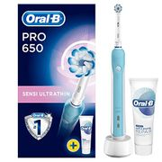 Oral-B Pro 650 Sensi Ultrathin Electric Toothbrush Rechargeable Powered