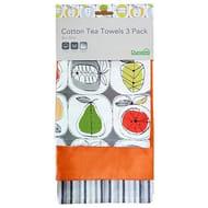 Pack of 3 Elements Eva Tea Towels