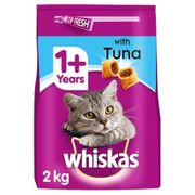 CHEAP! Whiskas Adult Cat Food with Tuna Tasty Filled Pockets (4 X 2kg Bags)