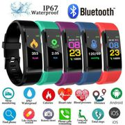 Bluetooth Fitness Watch with Heart Rate Monitor