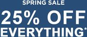 Spring Sale   25% off Everything