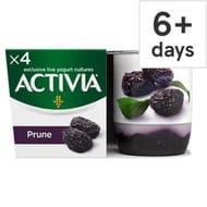 Danone Activia Fusions Prune Yogurt 4X125g