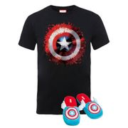 Get CAPTAIN AMERICA SLIPPERS & TEE for JUST £12.99