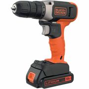 *SAVE £8* Black & Decker Cordless Drill Drive 18V Lithium Ion with 1.5Ah Battery