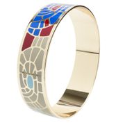 Sdj gold Plated Multi Coloured Enamel Bangle - Only £6!