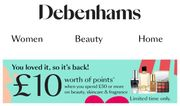 Receive Points worth £10 with £50 Spend