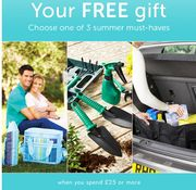 Choose One Of 3 Free Gifts When You Spend £25, It Must Be Summer!