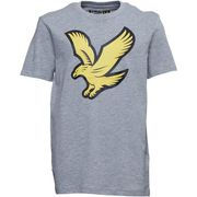 Lyle and Scott Junior Boys Eagle Logo T-Shirt Vintage Grey Heather