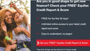 Get Your Equifax Credit Report And Score - 30 Day Free Trial