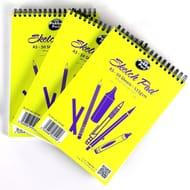 3 X Pukka Pad White Cartridge Paper A5 Sketch Pads (Total 150 Sheets)
