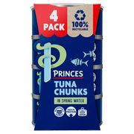 Princes Tuna Chunks in Spring Water 4x145g (112g*)