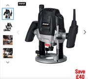 """Best Price! Trend T7 1/2"""" 2100W Variable Speed Router 230V at Tool Station"""
