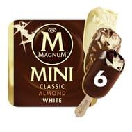Magnum Mini Classic, Almond & White Ice Cream 6 X 55ml