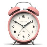 Newgate Charlie Bell Echo Silent Alarm Clock - Pink at Coggles
