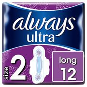 Always Ultra Long Sanitary Towels with Wings 12 Pads Only £1.4