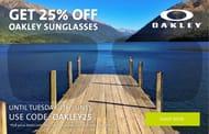 25% off Oakley Eyewear