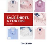 4 Shirts for £59 at TM Lewin
