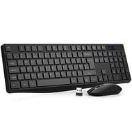 Wireless Keyboard and Mouse Set,VicTsing Stylish Full-Size Keyboard