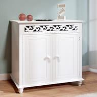 Wooden Cabinet Nostalgia Cupboard Doors Storage for Bathroom Kitchen