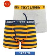 Tokyo Laundry - 6 Pairs Of Men's Boxer Shorts - £20