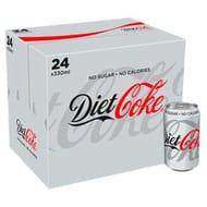 Diet Coke 24 X 330ml Pack / Coke Zero 24 X 330ml pack