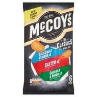 Mccoy's Classic Variety Crisps 6X25g