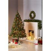 6ft Christmas Tree, Wreath and Garland Set