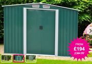 Easy Store Metal Garden Shed - 2 Sizes & Colours!