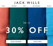 JACK WILLS SALE - up to 30% OFF