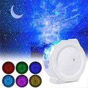 LED Night Light Projector 3-in- Moon Light with Sound Activated Stars