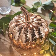 Small Mottled Rose Gold Pumpkin Battery Light