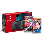 Nintendo Switch Console Grey + Cars 3 + Just Dance 2020