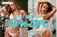 Buy 1 Get 2nd 99% off Selected Swimwear