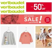 Vertbaudet SUMMER SALE - Baby, Girls, Boys - up to 60% OFF