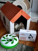 Free Kitten Food Box for Orders over £10 * Cardboard House with Stratcher & Toy