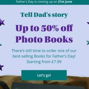 Up to 50% off on Photo Books for Fathers Day