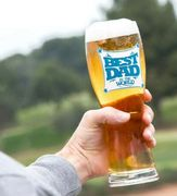 BEST DAD in the WORLD LARGE DRINKING PINT GLASS 750ML Fathers Day Gift