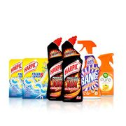 Ultimate Bathroom Cleaning Kit: Harpic, Cillit Bang and Air Wick (6 Items