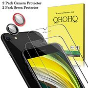 QHOHQ 2 Pack Screen Protector for New iPhone SE 2020/iPhone SE2 (4.7 Inch)