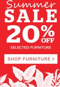 Dunelm Sale 20% off Selected Furniture