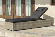 Backyard Furniture Barcelona Rattan Wicker Sunlounger