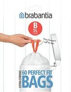Half Price- Brabantia Bin Liners, Size B, 5 L - 60 Bags
