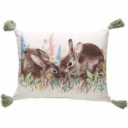 Best Price! Wilko Bunny Cushion with Tassels 43 X 33cm