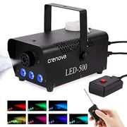 Fog Machine, 7 Color LED Lights, Crenova FM-03 Compact Portable Smoke Machine