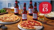 2 Pizzas + 4 Budweiser Or 4 Glass Bottles of Coke - £5 (Save up to £6.15)