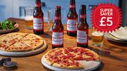 2 Co-Op Pizzas and 4 Pack of Budweiser for £5