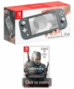 NINTENDO SWITCH LITE GREY with the WITCHER 3 WILD HUNT Only £244